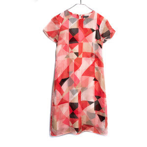 Vince Camuto Geometric Print Shift Dress
